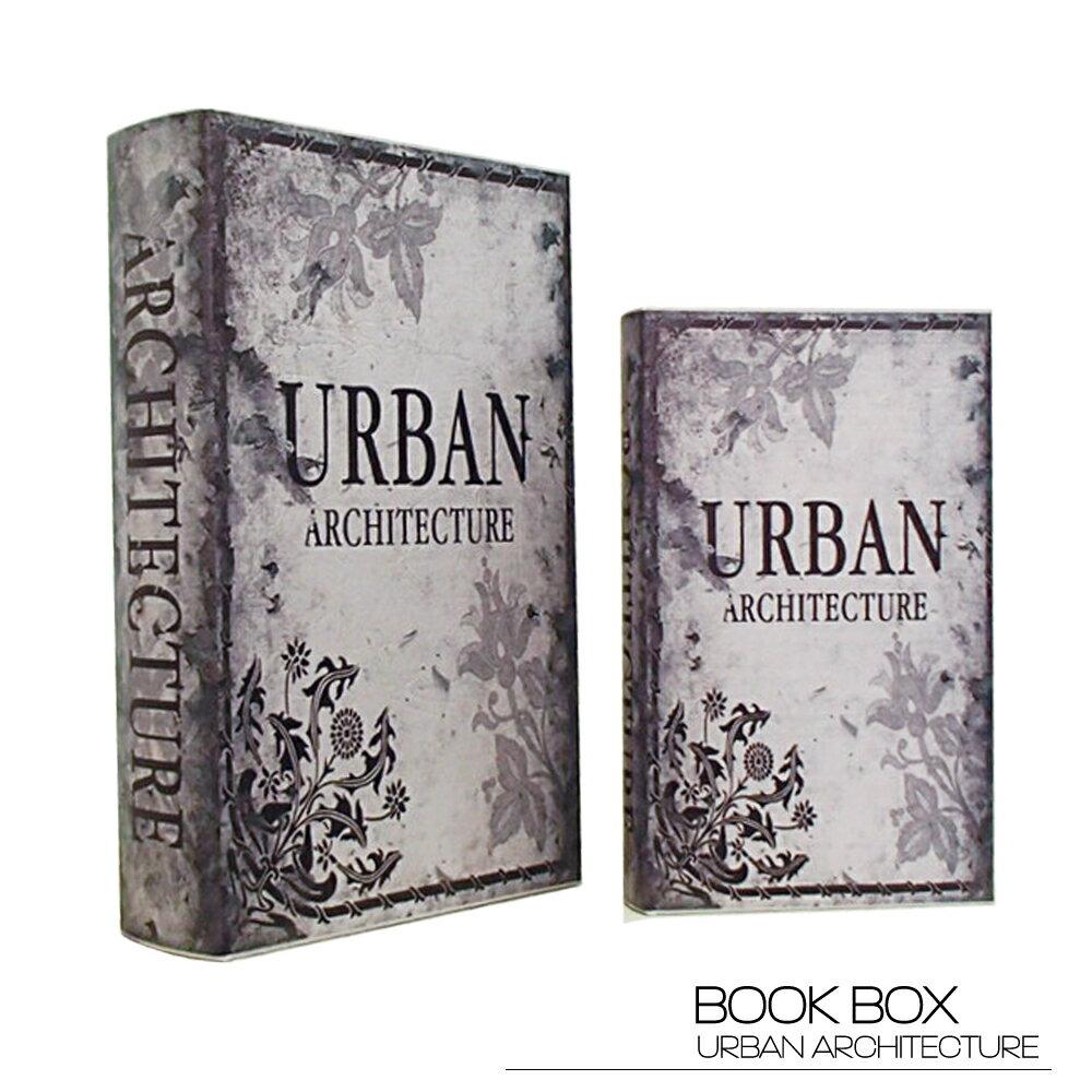【ブックボックス URBAN ARCHITECTURE】ブックボックス フェイクブック アンティーク レトロ 古びた 洋書 小物入れ 収納 本型 ふた付き デザイン ディスプレイ 送料無料