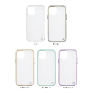 iPhone12mini対応IJOY360°衝撃吸収保護フィルム付きホワイトブラックベージュグリーンパープルイエローピンククリアクリアグレークリアベージュクリアグリーンクリアパープルサンクレスト