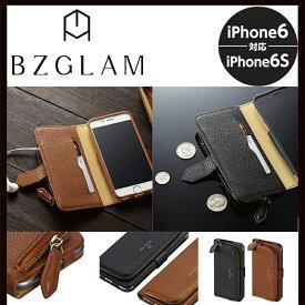 iPhone6s ケース 手帳型カバー BZGLAM ビズグラム 本革レザーコインカバー ブラック ブラウン i6S-BZ14 i6S-BZ15 サンクレスト