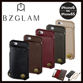 iPhone6s ケース BZGLAM ビズグラム 本革レザー ネックストラップ付きウェアラブルレザーカバー i6S-BZ09 i6S-BZ10 i6S-BZ11 i6S-BZ12 i6S-BZ13 サンクレスト