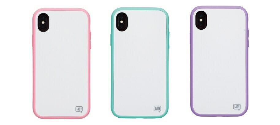 iDress IJOY 360°衝撃吸収 iPhoneケース iPhone XS パステルピンク パステルミント パステルパープル iDress サンクレストi32AiJ04 i32AiJ05 i32AiJ06