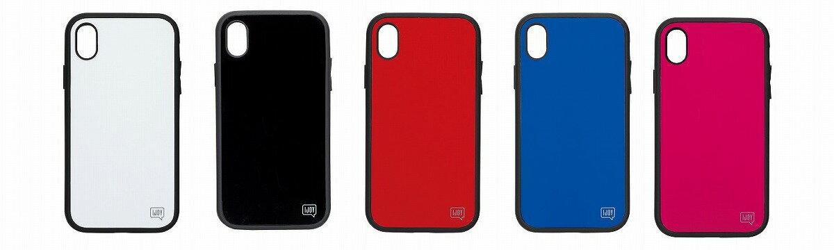 iDress IJOY 360°衝撃吸収 iPhoneケース iPhone XS Max ホワイト ブラック レッド ブルー フューシャピンク iDress サンクレストi32CiJ01 i32CiJ02 i32CiJ03 i32CiJ04 i32CiJ05