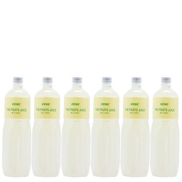 100%レモンジュース(レモン果汁100%) 1Lペットボトル×6本