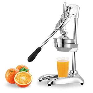 Hanchen 手動ジューサー フルーツしぼり 柑橘類フレッシュジューサー 果汁生搾り器 オレンジ・レモン・ぶどう絞り器 果物ハンドジューサー 簡単使用 家庭用 業務用