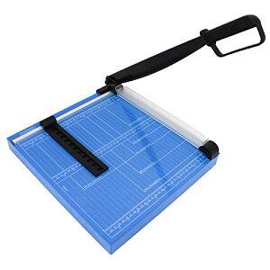 HFS(R) 裁断機A4 ペッパーカッター 12枚 銅板 革 鉄板 不織布生地 断裁機 業務用 家庭用 DIY カッティング 目盛り付き 手動裁断器 切断サイズ調整可