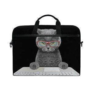 色:color2 Chovy PCケース インナーバッグ ノートパソコンバッグ 保護ケース おしゃれ 15-15.4インチ ネコ 猫 猫柄 黒 ブラック かわいい 可愛い クール 個性 インナーケース PCカバー パソコンバ