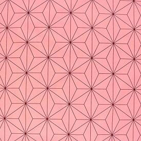 サイズ:約巾110cm×2m 日本紐釦貿易 麻の葉文様 麻の葉柄 生地 ブロード 和柄 ピンク 桃色 NBK 生地 布 コスプレ 巾約112cm2m切売カット IBK99078-2A-2M