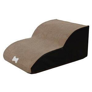 色:ベージュ色 ドッグステップ ベッドステップ 犬用踏み台 ベッド用階段 ペット用品 犬用ステップ 2段 怪我防止 滑り止め 階段 犬の階段 洗えるカバー 高齢犬 介護用品 安全 耐久 心地よい