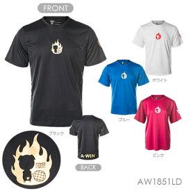 A-WIN 1851LD FIGHT 半袖Tシャツ(ユニ/ メンズ/ ジュニア) バドミントンウェア アーウィン【ハシルトンシリーズ/ クリックポスト発送可/ 限定品】