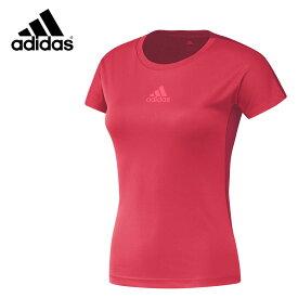 adidas DX0057 クラブシャツ(レディース) スカーレット バドミントンウェア アディダス【クリックポスト可/取り寄せ】