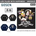 GOSEN NPT24 ぽちゃ猫 LiFE FiLLED WiTH HAPPiNESS 長袖Tシャツ(ユニ/メンズ) pochaneco リミテッドエディション 2020…