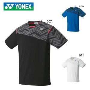 YONEX 10366 ユニゲームシャツ(フィットスタイル) テニス・バドミントンウェア(PRACTICE) ヨネックス 2020年秋冬モデル【メール便可/日本バドミントン協会審査合格品/取り寄せ】