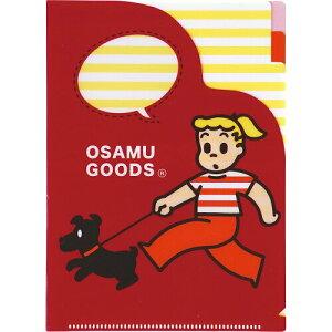 OSMオサムグッズA5 3ポケットファイル(散歩)BD035-25 学研ステイフル【かわいい キャラクターグッズ 大人 OSM オサム 原田治 便利 多目的】