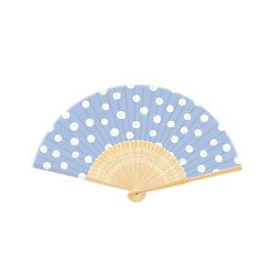 扇子新日本カレンダー Wamon シリーズNO.701 水玉【女性用 男性用 メンズ かわいい オシャレ シンプル 和柄 文様 和風】