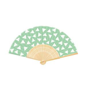扇子新日本カレンダー Wamon シリーズNO.702 三角【女性用 男性用 メンズ かわいい オシャレ シンプル 和柄 文様 和風】