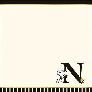 ツジセル 4010-100(SN/N)【ミニタオル タオル イニシャルタオル N スヌーピー ピーナッツ プチギフト 洗える キャラクター お祝いウォッシュタオル 西川リビング】