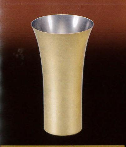 【漆磨shi-ma】 箔銅華ビアカップ380ml ビール 純銅 金箔 ゴールド 内祝い 酒器 ギフト プレゼント