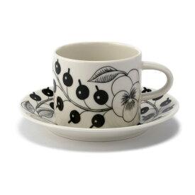 【ARABIA】 パラティッシ コーヒーカップ&ソーサー 180cc ブラック /コップ ティー用品 コーヒー用品 アラビア