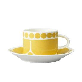 【ARABIA】 スンヌンタイ カップ&ソーサー 280ml イエロー / コップ ティー用品 コーヒー用品 アラビア
