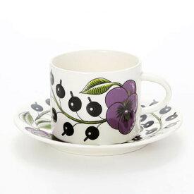 【ARABIA】 パラティッシ パープル コーヒーカップ&ソーサー /コップ ティー用品 コーヒー用品 アラビア