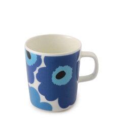 【marimekko】 Unikko(ウニッコ) マグカップ ホワイト×ブルー /コップ ティー用品 コーヒー用品 マリメッコ