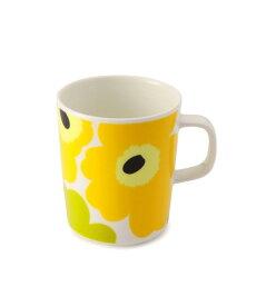 【marimekko】 Unikko(ウニッコ) マグカップ ホワイト×ライム /コップ ティー用品 コーヒー用品 マリメッコ