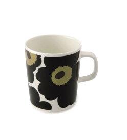 【marimekko】 Unikko(ウニッコ) マグカップ ホワイト×ブラック /コップ ティー用品 コーヒー用品 マリメッコ