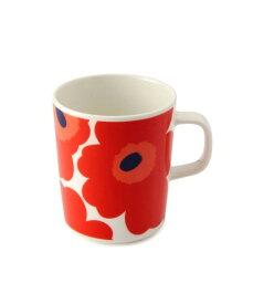 【marimekko】 Unikko(ウニッコ) マグカップ ホワイト×レッド /コップ ティー用品 コーヒー用品 マリメッコ