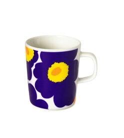 【marimekko】 Unikko(ウニッコ) マグカップ ホワイト×ネイビー /コップ ティー用品 コーヒー用品 マリメッコ