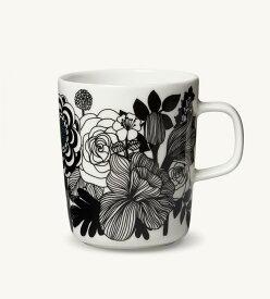 【marimekko】 Siirtolapuutarha(シイルトラプータルハ) マグカップ 250ml ブラック /コップ ティー用品 コーヒー用品 マリメッコ