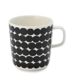 【marimekko】 Rasymatto(ラシィマット) マグカップ 400ml ホワイト×ブラック /コップ ティー用品 コーヒー用品 マリメッコ