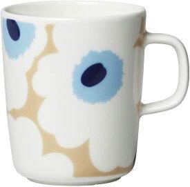 【marimekko】 Unikko(ウニッコ) マグカップ ホワイト×ベージュ /コップ ティー用品 コーヒー用品 マリメッコ