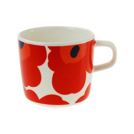 【marimekko】 Unikko(ウニッコ) コーヒーカップ 200ml  レッド /コップ ティー用品 コーヒー用品 マリメッコ