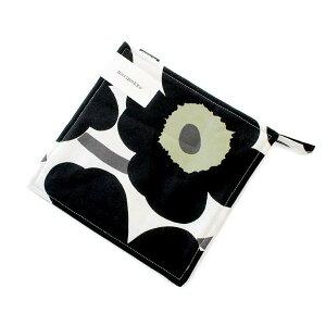 【marimekko】 Pieni Unikko(ピエニ ウニッコ) ポットホルダー ブラック /紅茶 ティー用品 鍋敷き マリメッコ