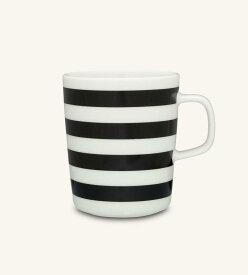 【marimekko】Tasaraita(タサライタ) マグカップ 250ml ブラック×ホワイト /コップ ティー用品 コーヒー用品 マリメッコ