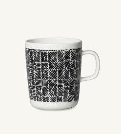 【marimekko】 Juustomuotti(ユーストムオッティ) マグ 250ml ホワイト×ブラック /コップ ティー用品 コーヒー用品 マリメッコ
