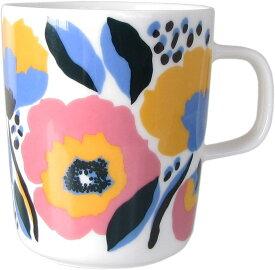 【marimekko】Rosarium (ロサリウム) マグカップ 250ml ホワイト×レッド /コップ ティー用品 コーヒー用品 マリメッコ
