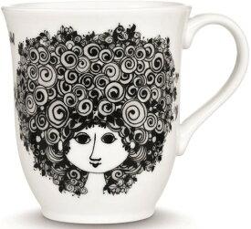 【Bjorn Wiinblad】ビヨン・ヴィンブラッド マグカップ 350ml ブラック 52101/コップ ティー用品 コーヒー用品 デンマーク
