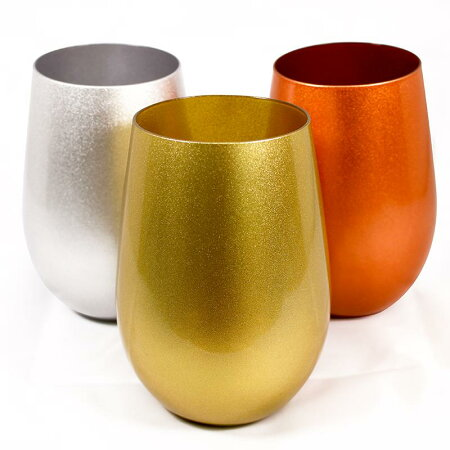 【ソリッド】メタルカラータンブラータンブラー460mlグラステーブルウェア食器ガラスギフトプレゼントカラフルドイツ製