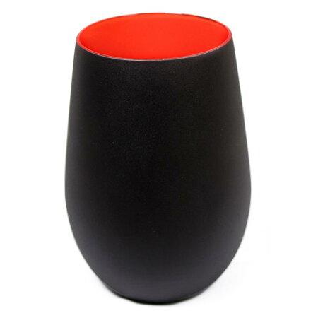 【レッド/ブラック・ブラック/レッド】メタルカラータンブラータンブラー460mlグラステーブルウェア食器ガラスギフトプレゼントカラフルドイツ製