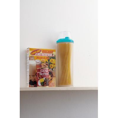 【お米と麺のストッカーボトル1個入り】米・麺類の保存に適した冷暗所・「冷蔵庫」のドアポケットにぴったり。計量カップ お米一合 パスタメジャー パスタ一人前