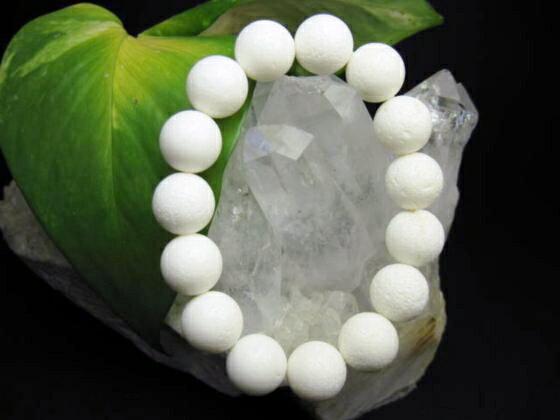 【均一ブレスレット】天然ホワイトコーラル(白珊瑚)Φ14±0.2mm
