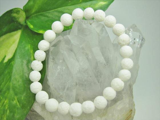 【均一ブレスレット】天然ホワイトコーラル(白珊瑚)Φ8±0.5mm