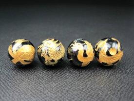 【四神獣王:4種セット】ブラックトルマリンΦ12±0.2mm【ゴールド】