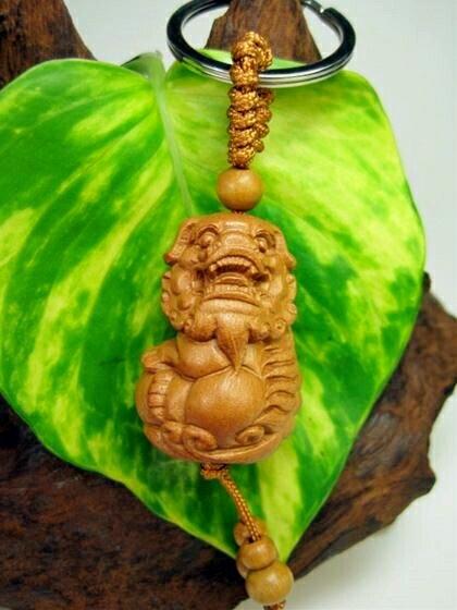 【キーホルダー】花梨木(くわりぼく)獅子