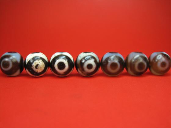 ※訳あり※【チベット高級至純天珠】三眼天珠Φ18±0.5mm【2粒SET・馬蹄痕】