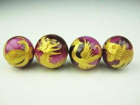 【四神獣王:4種セット】ピンクタイガーアイΦ10±0.2mm【ゴールド】