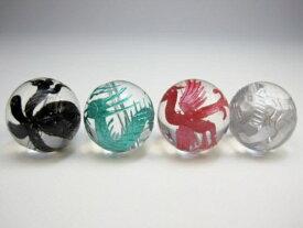 【四神獣王:4種セット】水晶Φ12±0.2mm【ミックスカラー】