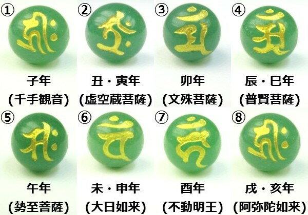 【粒売り:梵字】グリーンアベンチュリンΦ10±0.2mm【ゴールド】