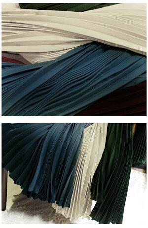 超目玉■楽天1位!プリーツスカートスカートマキシ丈プリーツロングスカートフレアロング2019春